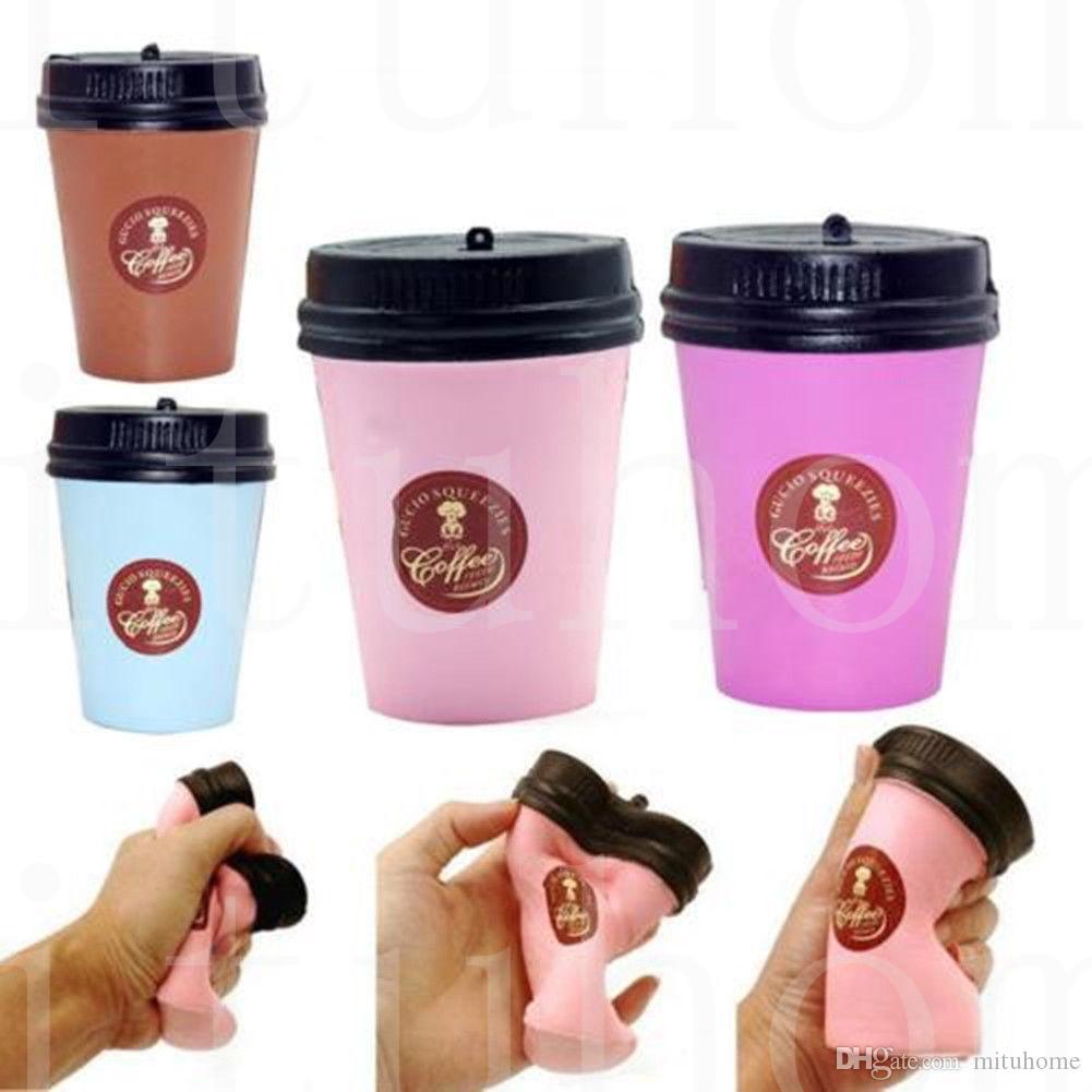 Kawaii mole Coffee Cup lenta Nascente Phone Strap Jumbo Kawaii Pingente Stretchy Pão Bolo Fun Kids Squeeze Toy Presente