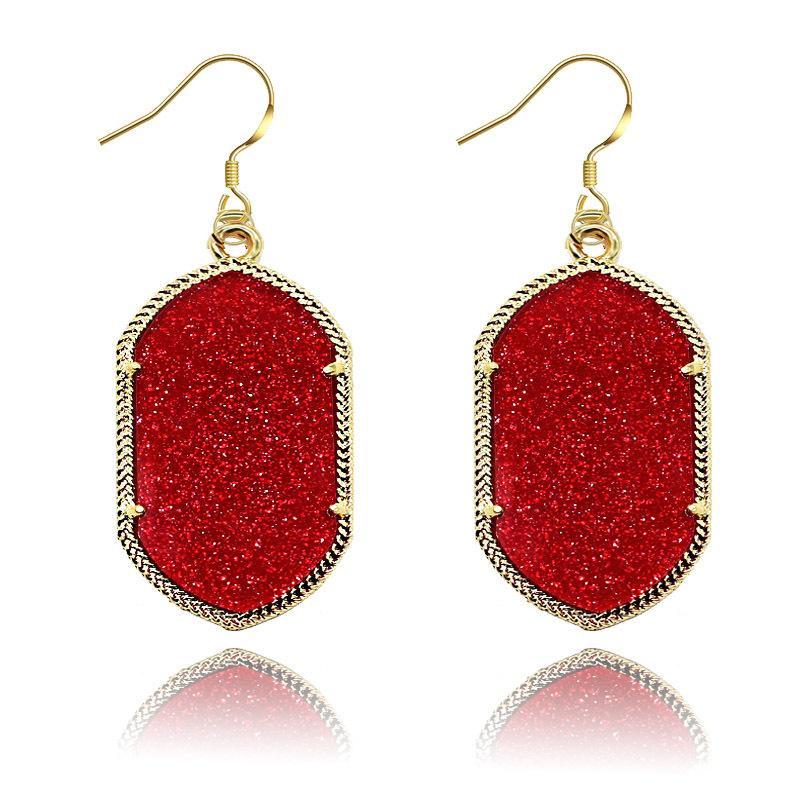 Ks 2019 Мода Люстра Стиль Jewelry Акриловые серьги серьги день Valentien Женщины Подарок для 8 цветов 6 56EZ