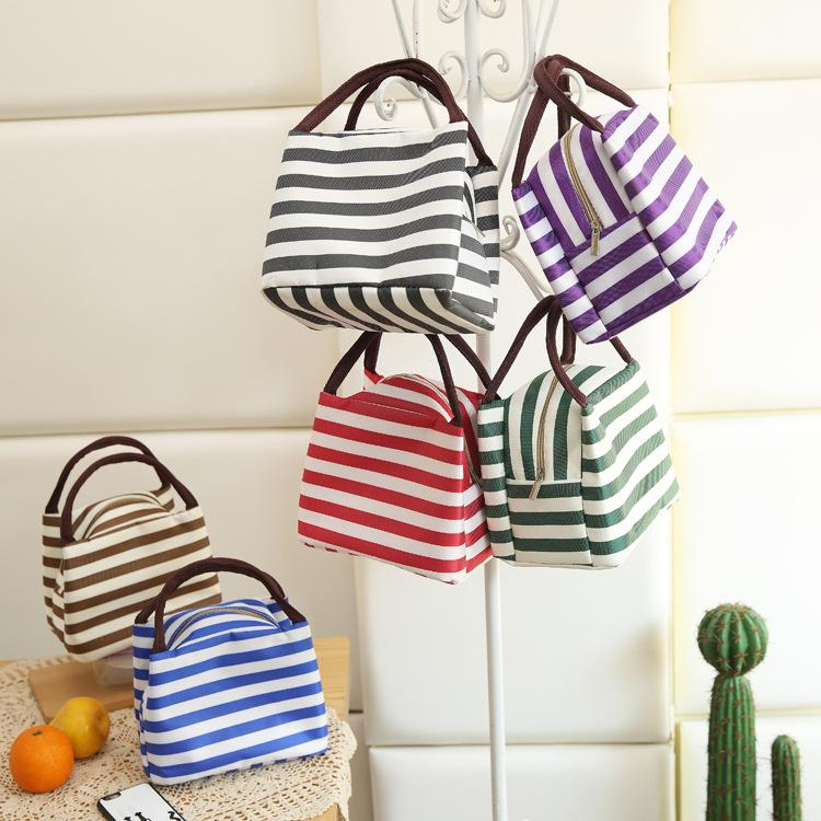 Diseñador bolsas de asas de bolsas portátiles de almacenamiento de bolsa de almuerzo caja de la cocina cremallera para bolsas de picnic al aire libre bolsa de viaje térmica carry envío