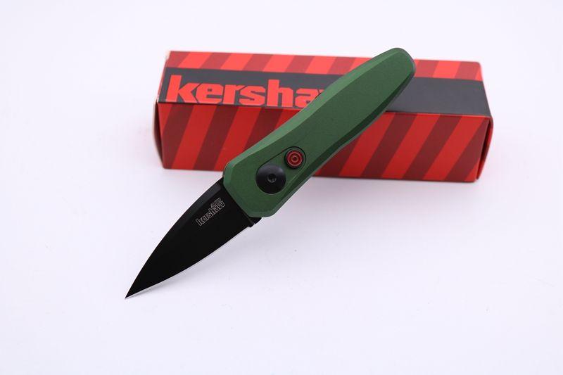 Высокое качество Kershaw нож 7500 мини карманный складной нож 440C Blade 6061-T6 зеленая ручка фрукты кухонный нож выживание тактические ножи EDC