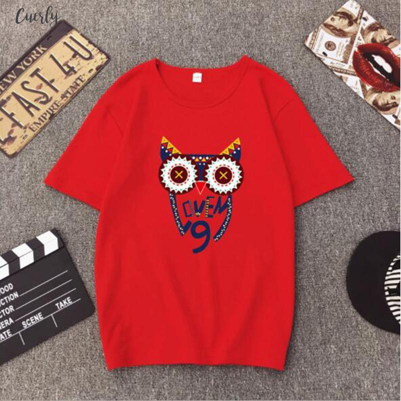 Venta caliente Camiseta para mujer de alta calidad de impresión a corto Mouw O Cuello gatos camiseta de Femme suelta Mujeres Tops
