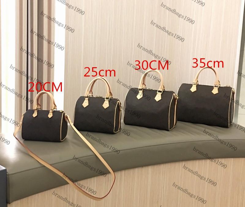 25cm Reisetasche 20 cm 30 cm Mode Taschen Frauen Klassisches Leder freie Tasche Trimm Gepäck Original Duffel Canvas Handtasche 35cm Versand Snavl