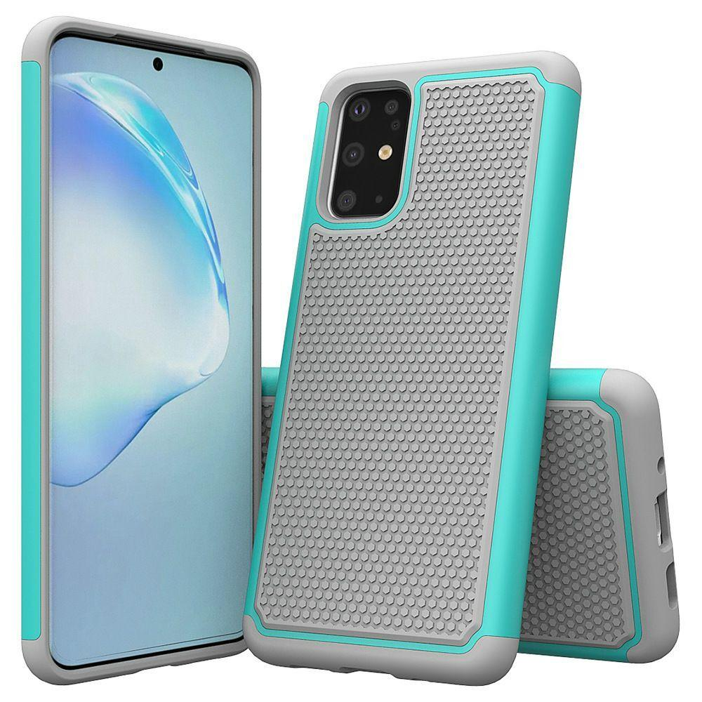 Silicone+PC Dual Layer Heavy Duty Rugged Combo Armor Cases Case for Samsung Galaxy S20 Ultra S10 Plus S10e Shockproof Cover