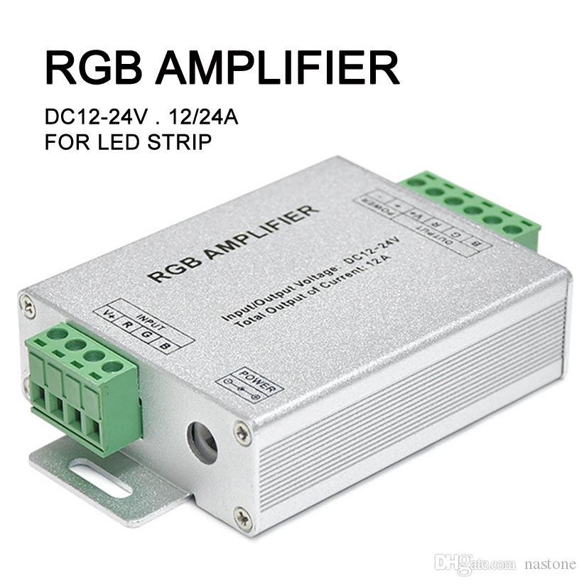 DC 12V-24V / 12A 24A الإشارة RGB مكبر للصوت مكرر ل3528 5050 LED قطاع الخفيفة