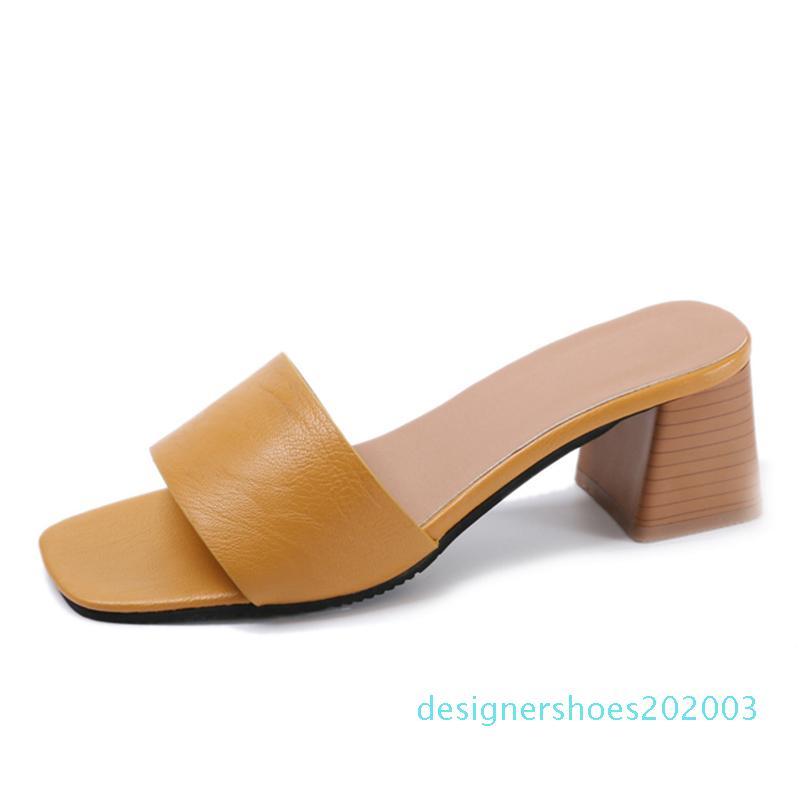 Sıcak Satış-2019 Zarif Şık Stil Moda Yaz Terlik Casual kadın ayakkabı Açık Kadın Ayakkabı flipfloplar Katır Sandalet D03