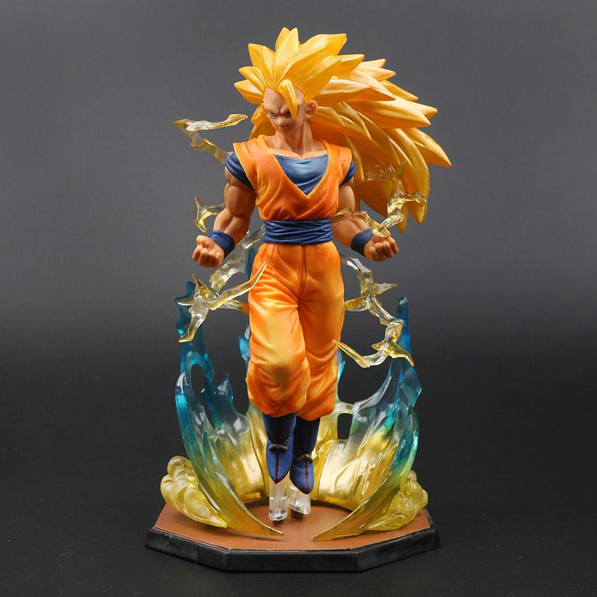 18cm Box Figurine Super Saiyan 3 Son Goku PVC Action Figures Dragon Ball Z Collection Model DBZ Esferas Del Dragon Toy OPP Y191105