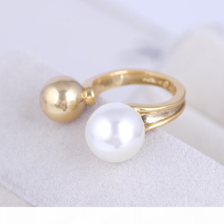 Hot vente décyclisation mi doigt Knuckle Bagues aux perles perles de 1.1cm combinaison de ressort Anneaux Bijoux Style PS6414