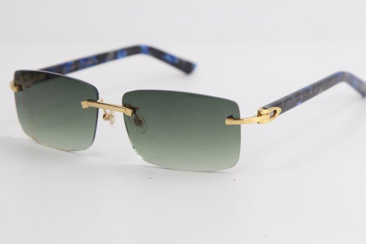 새로운 패션 림없는 대리석 블루 판자 선글라스 판매 8200757 패션 고품질 브랜드 태양 안경 운전에 대 한 최고의 선글라스