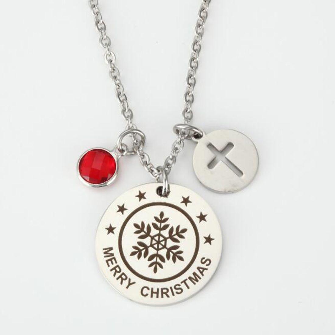 Pequeño y simple Disco de cristal delicado Colgante de plata Collar con cruz de fe Primera comunión de regalo para niñas y mujeres