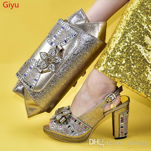 good price Italian Shoes and Bag Set African Wedding Shoe and Bag set Italy Shoe and Handbag Summer Set Women!WS1-21