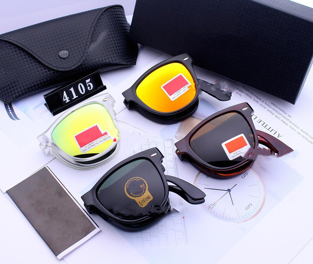 Солнцезащитные очки HD закаленное квадратное стекло складные очки мужчины женские очки цветная пленка очки источник завод популярное вождение супермаркет