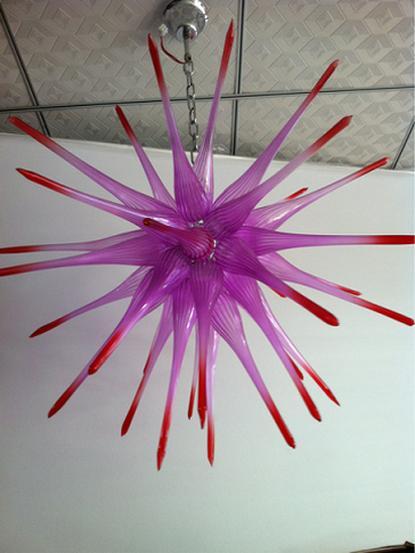Творческая Удивительный свадебное Centerpiece люстра светильники Розовой Спальня 100% Mouth Сгорел боросиликатный Murano стеклянного потолка