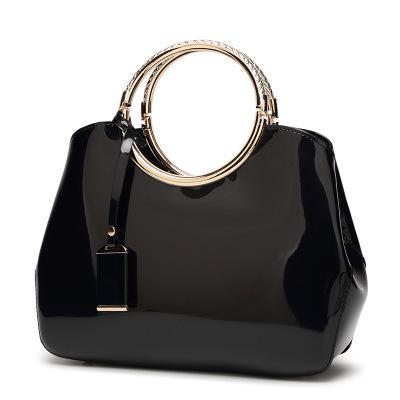 bolsa estilo europeu e americano brilhante cara, saco das mulheres de luxo de couro de alta qualidade, designer de marca Joker clássico bolsa de ombro