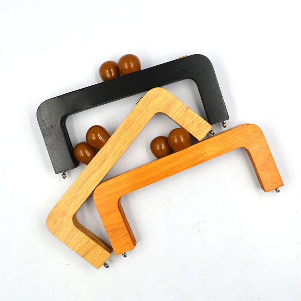 20x8 cm quadro de bolsa de madeira maciça DIY saco fazendo fecho beijo fivela de bloqueio 3 pçs / lote