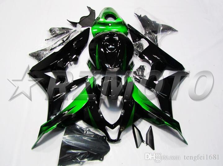 OEM Kalite Yeni ABS Tam Marangozluk Kitleri HONDA CBR600RR F5 2007 2008 07 08 600RR Karoseri seti için fit Özel siyah yeşil Serin