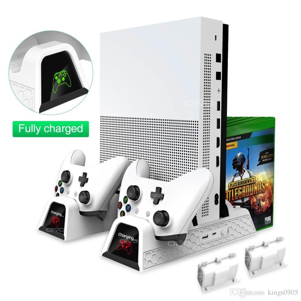 neue OIVO Dual-Controller-Ladegerät für Xbox ONE Kühl Vertical Stand Spiele Speicherlade Docking Station für Xbox ONE / S / X-Konsole