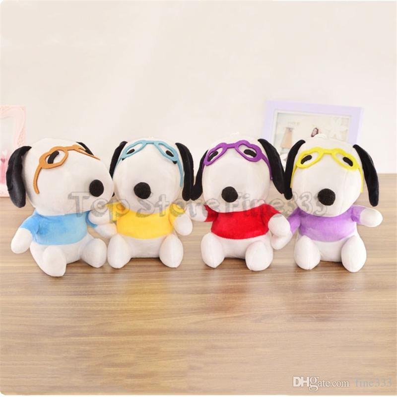 Peanuts SNOOPY Clothing Stuffed Animals 20CM/8Inches SNOOPY Plush Doll Toys 4Colors Dressing Mix Best Christmas Gifts Wholesale kids toys