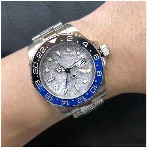 Nowości Gorąca Sprzedaż Klasyczny Mechaniczny Człowiek Zegarek Automatyczne zegarki ze stali nierdzewnej Męski zegar zegarowy 196