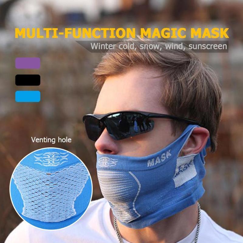 Nouveau Anti froid Masque chaud d'hiver Ski Vélo portable vélo Vélo Sport moitié visage cou Masque pour hommes / femmes