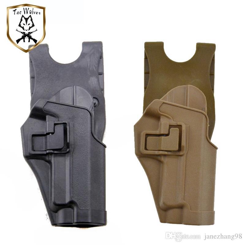 Gun Holster Sig P226, Arme à feu Accessoires CQC Airsoft Tactical Holster Outdoor Hunting RH Noir Tan Livraison gratuite pour la défense Holsters