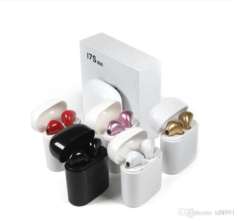 NEW I7 I7S TWS Wireless Bluetooth Earbuds Twins Headphones Earphone Headphone with Charger Box for Android Samsung Sony Smart Phones MQ100
