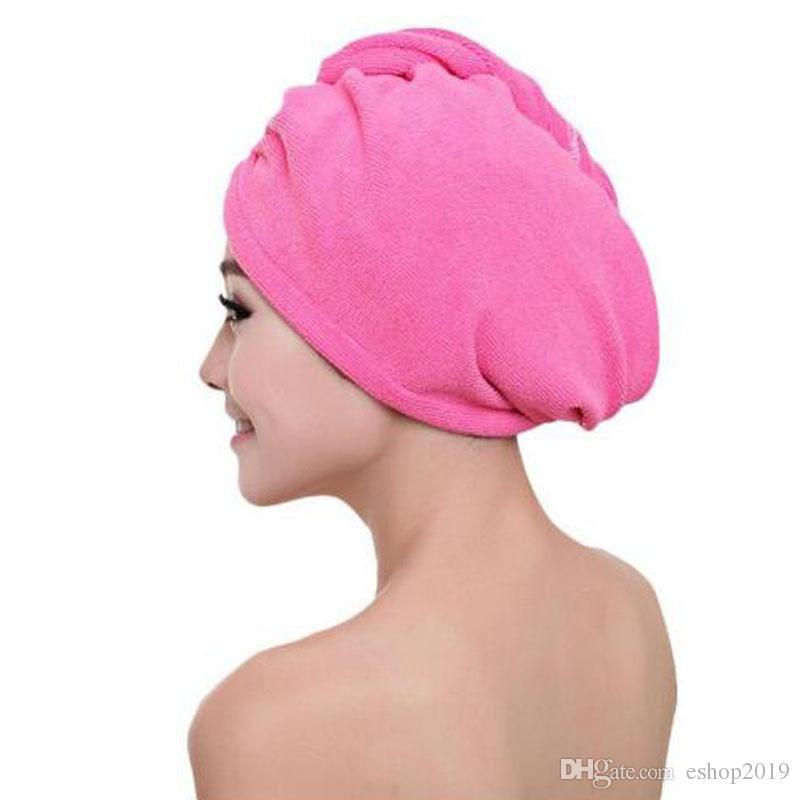 Microfibra após o banho de cabelo envoltório de secagem das mulheres meninas senhora toalha de secagem rápida cap chapéu do cabelo turbante envoltório cabeça de banho ferramentas