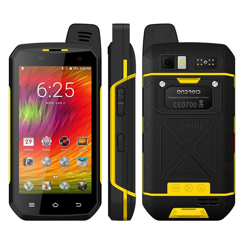 UNIWA B6000 Zello Walkie Talkie 4.7 Inch Octa Core 4GB RAM 64GB ROM IP68 Watetproof Android Rugged Smartphone