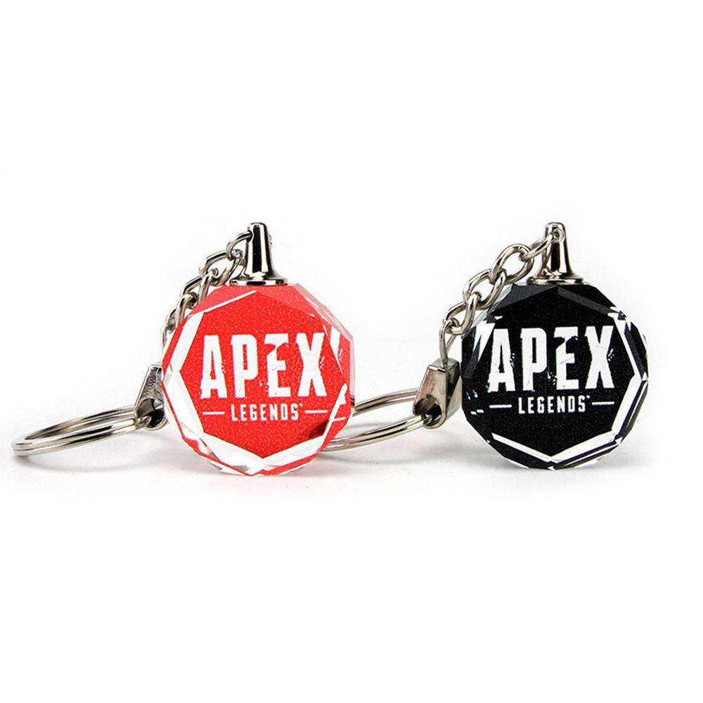 6 adet Apex Legends Anahtarlıklar Kırmızı Siyah Anahtar Yüzükler El Yapımı Moda Kristal Anahtar Yüzükler Hediye Erkekler ve Kadınlar için Oyun Hayranları