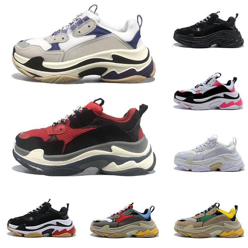 New Fashion Paris Designer Shoes surbaissées Sneakers Triple S Hommes Casual femmes hommes occasionnels sport design formateurs Zapatos de Scarpe