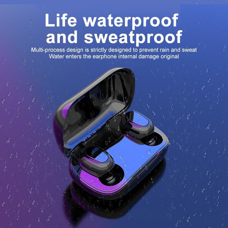 L21은 / L21 프로 블루투스 이어폰 무선 이어폰 5.0 TWS 헤드셋 듀얼 이어폰베이스 사운드를 들어 화웨이 샤오 미 아이폰 삼성 휴대 전화