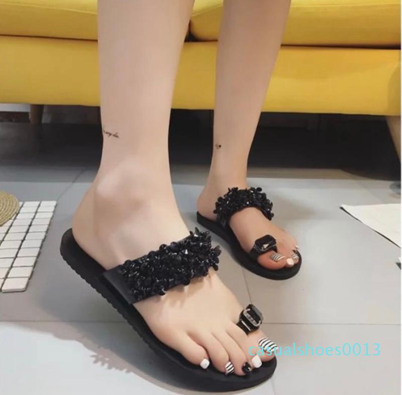 кожа женщины дизайнер сандалии роскошь вьетнамки Rubber сандалии летом тапочки моды Потертости тапочки Крытый обувь Большой размер 35-43 c13
