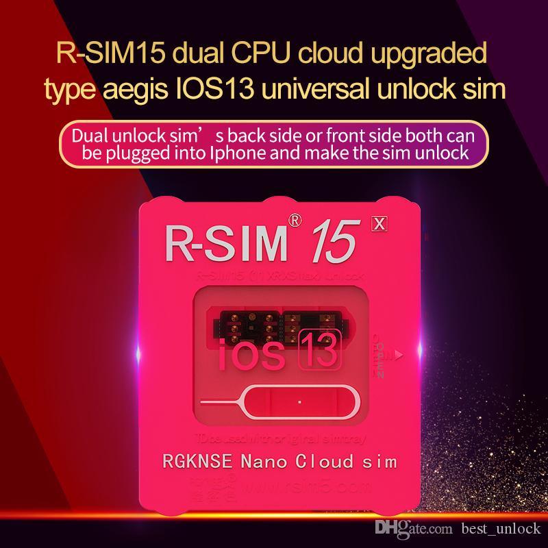 RSIM15 para iOS13 RSIM cartão de desbloqueio 15 RSIM15 RSIM 15 CPU dual atualizado desbloqueio universal para iPhone 11 Xs MAX XR XS X 6 7 8 PLUS ios7-13.x