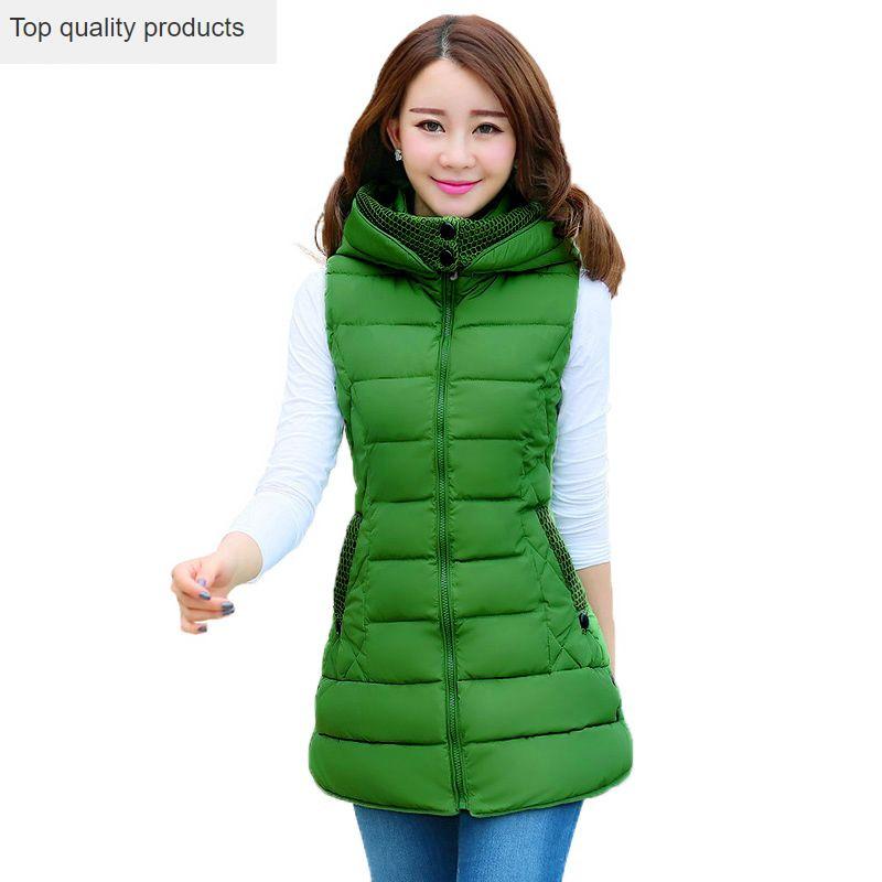 2020 New Autumn Winter Women's Vests Plus Size Slim Sleeveless Vest Female Solid Color Hooded Outerwear Coat Waistcoat OK919