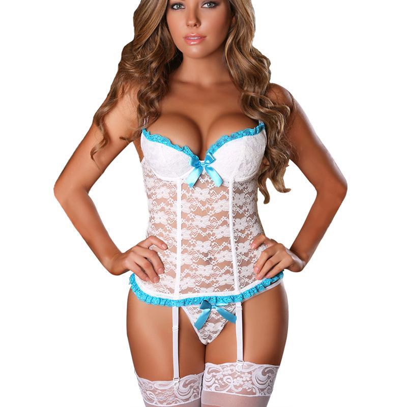 Women Lingerie Sexy Exotic Sex Clothes Lace Perspective Corset