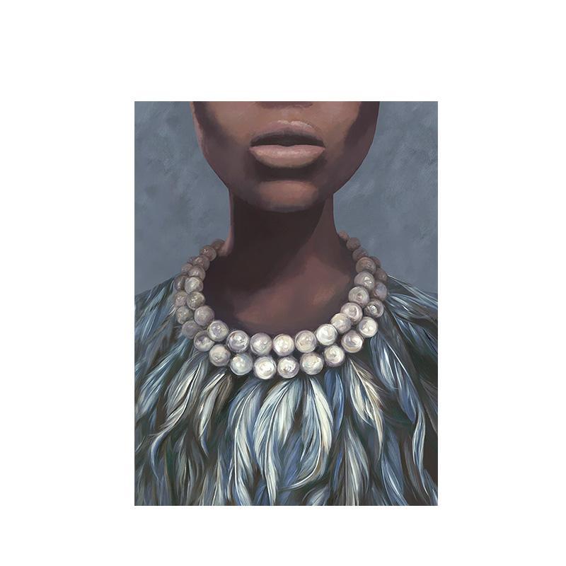 Sexy Nu Art Femme africaine Peinture à l'huile sur toile Cuadros Affiches et copies Wall Art Image pour Salon