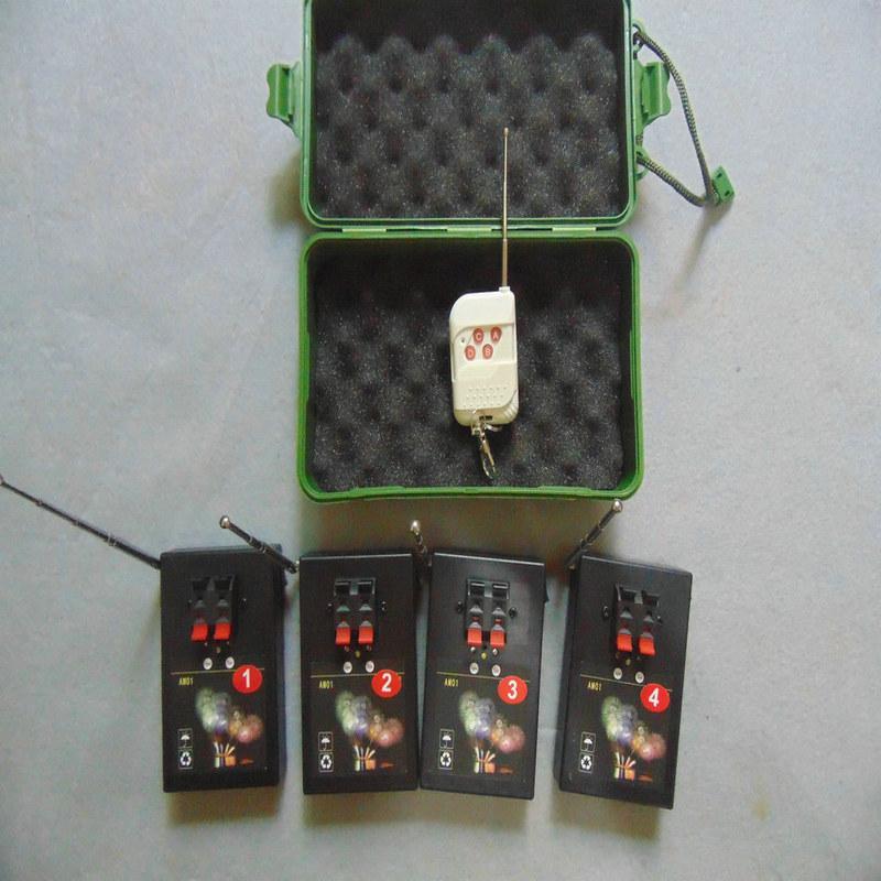 Übermittler Fern 4 Cues schalten Feuermaschinen Hochzeit Bühnen Sequentia Home Garten Feuerwerk Zündung-System CONNCT Draht Smart 433mhz