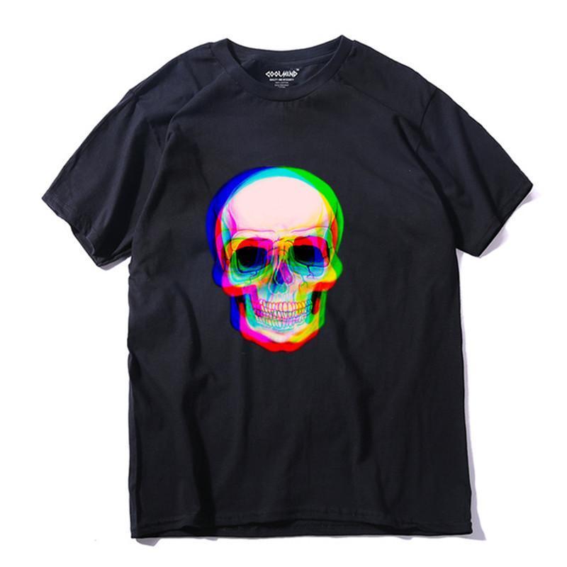 Short Sleeve Skull Men T Shirt Casual Loose Summer Mens Tshirt Male T -Shirt Tmens Tee Shirts Size XS-2XL