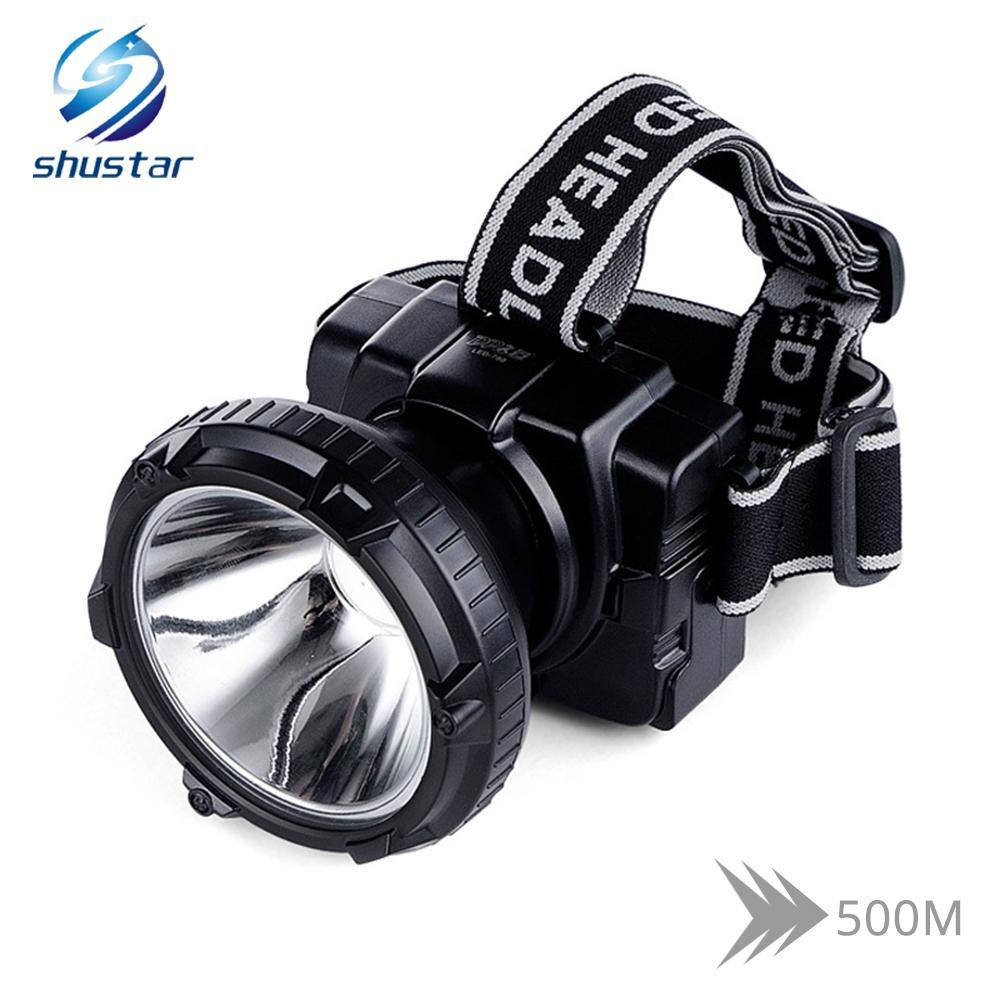 Shustar Rechargeable LED headlamp Ultra Bright headlight Built-in 4000 mAh large-capacity lithium battery available for 20 hours