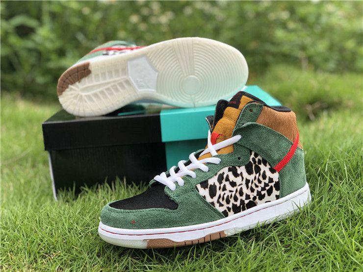 2019 lanzamiento hombre mujer niña baloncesto zapatos de baloncesto 1 sb dunk alto perro caminante 1s con caja de zapatillas de deporte BQ6827-300 US 5.5-11