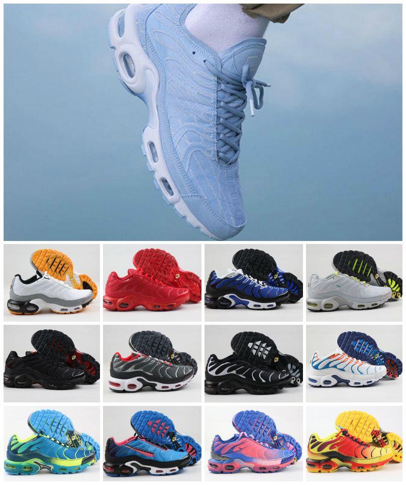 High Quality 2020 AIR TN PlUS GS RUnninG ShOes MEns TN Original TRiPlE BlAck White Chaussures Tn Decon WMNS Sports ZapatillAs Sneakers