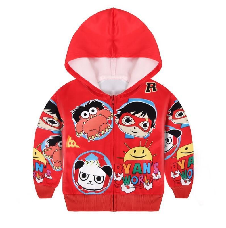 Райана игрушка Обзор дети пальто костюмов малыши пальто шарж с капюшоном Всех детьми куртки для девочек жакетов мальчиков пальто оптом