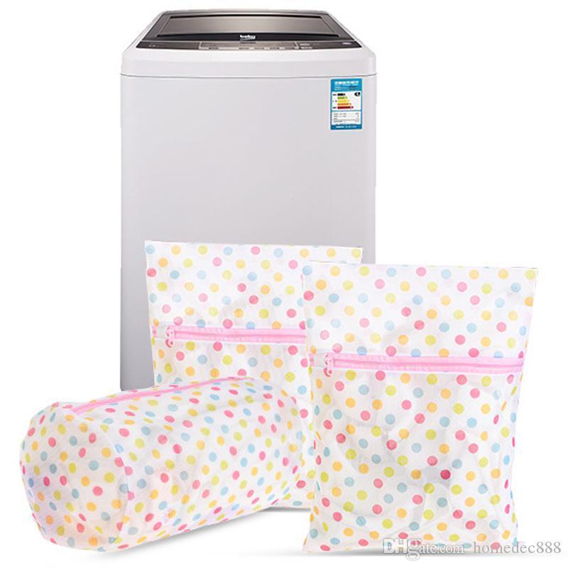Cuidado de lavado Bolsas de lavandería 30 * 40 CM Imprimir Bolsa de lavandería Ropa Lavadora Lavandería Sujetador Ropa interior Malla Bolsa de lavado de red Bolsa Cesta DH0962