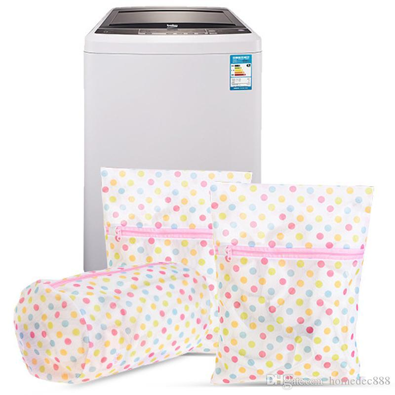 Çamaşır Bakımı Çamaşır Torbaları 30 * 40 CM Baskı Çamaşır Torbası Giysi Çamaşır Makinesi Çamaşır Sutyen Iç Çamaşırı Mesh Net Yıkama Torbası Kılıfı Sepet DH0962