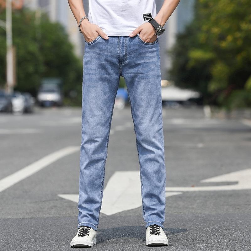 GX2ET dei jeans degli uomini d'affari nuovi pantaloni sottili lungo coreano estate sottile semplice del tutto-fiammifero pantaloni diritti degli uomini pantaloni casual pantaloni casual