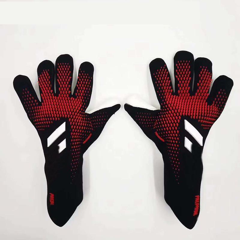 Профессиональные вратарские перчатки для детей Детского футбола Футбол Вратарских перчатки Покрытие сгущает Latex Glove не Finger Сохранить Guard