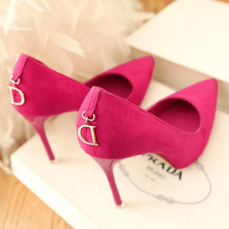 Novo 2020 D Camurça Camurça Viscose desejo STILETTO Calcanhar Sapatos Mulheres Sapatos Mulheres Designers High Heel