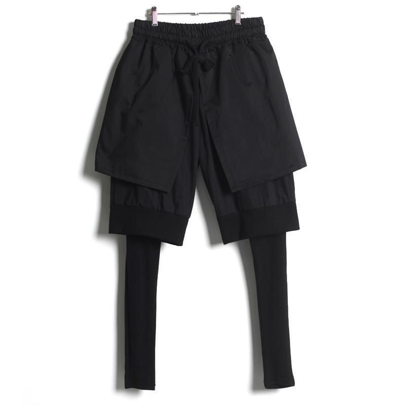 Irregolare Maschio Harem Figura intera Sylish confortevole Chic matita dei pantaloni di personalità elastico in vita Pantaloni MK0086