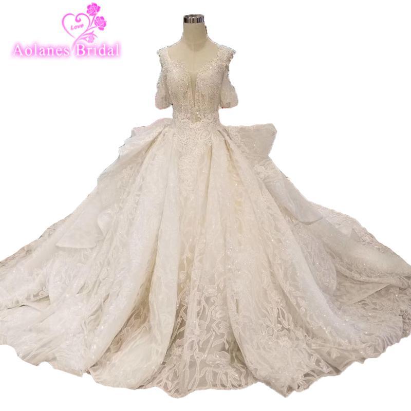 100% echte Original Bilder Hochzeitskleid Zurück Kann Ändern Schlüsselloch 2019 neue design Großen Rock für hochzeit Brautkleid
