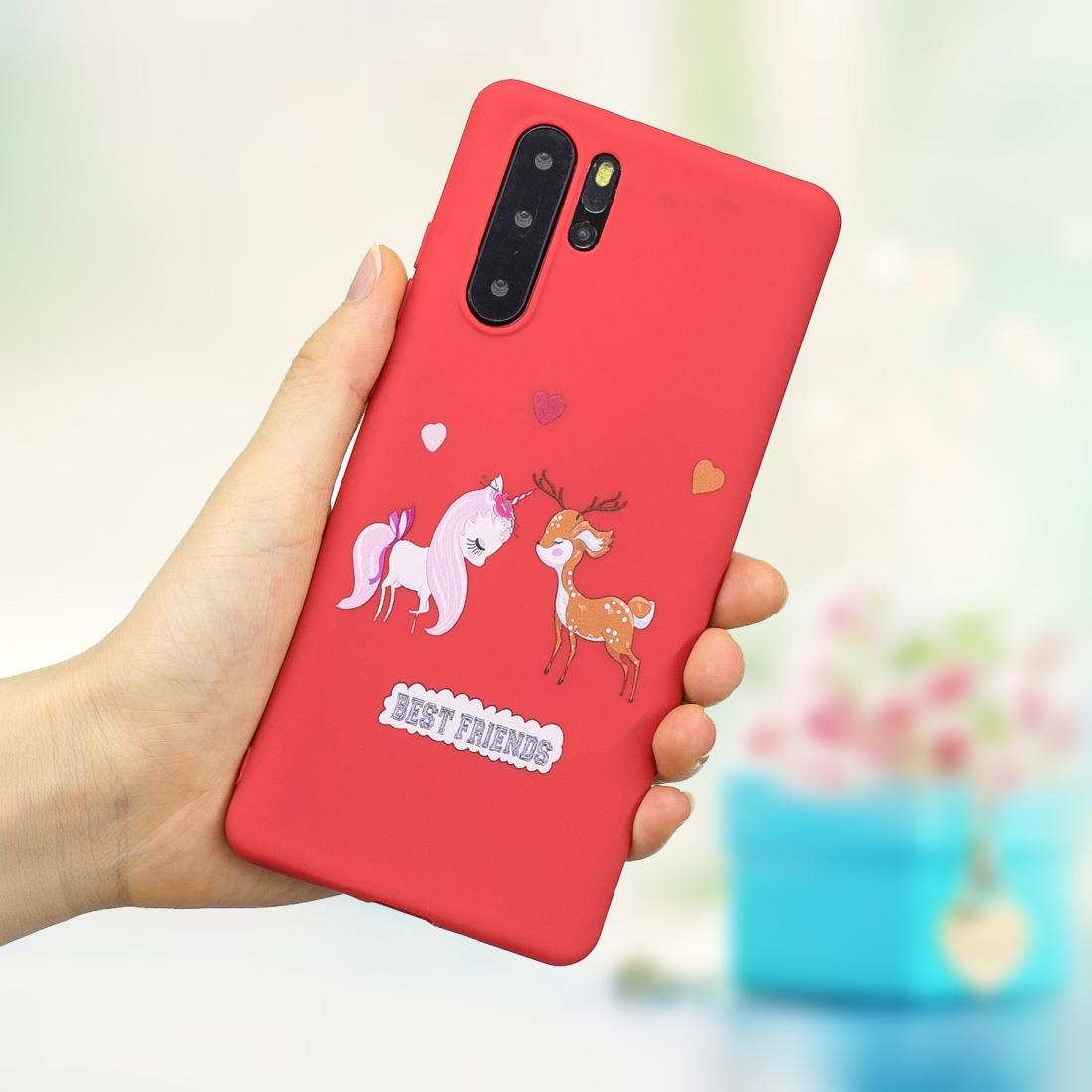 Frosted Pattern TPU Protective Case for Huawei P30 Pro