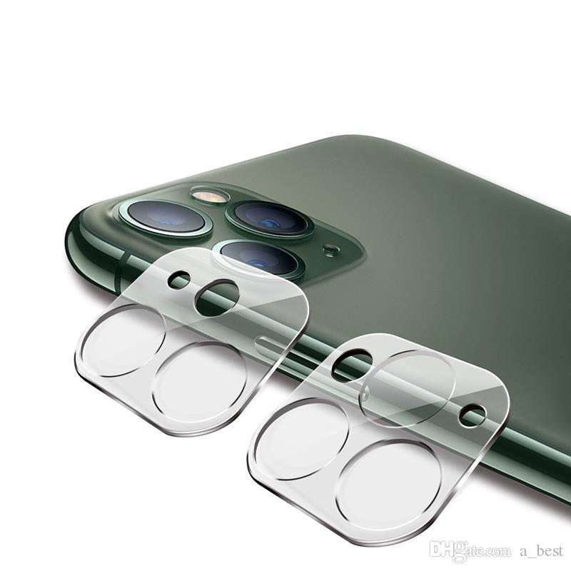Telefon Mercek Ekran Koruyucu için iphone 11 Pro MAX XS XR X Arka Kılıf 3D Şeffaf Çizilmeye Dayanıklı Geri Kamera Temperli Cam Film Kapak